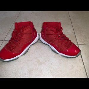 Red Jordan 11's